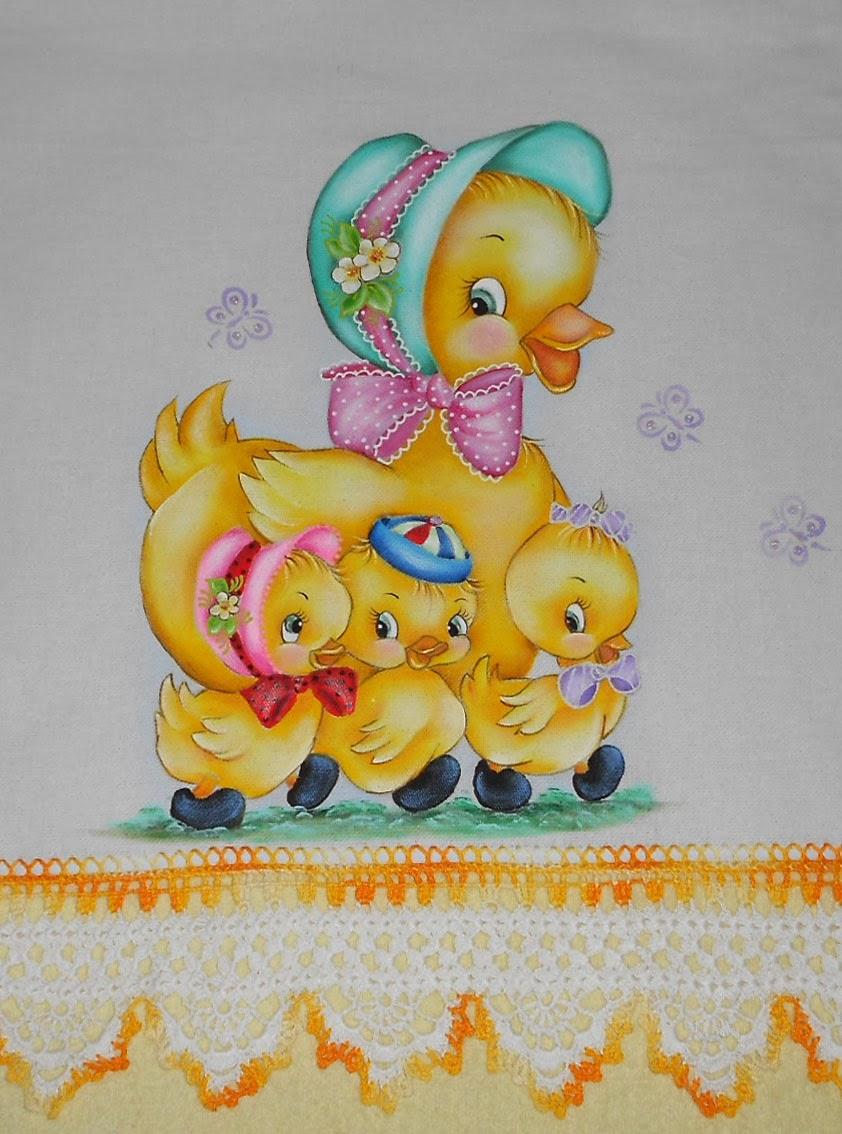 Ngela artes pintura em tecido pano de prato - Telas con motivos infantiles ...