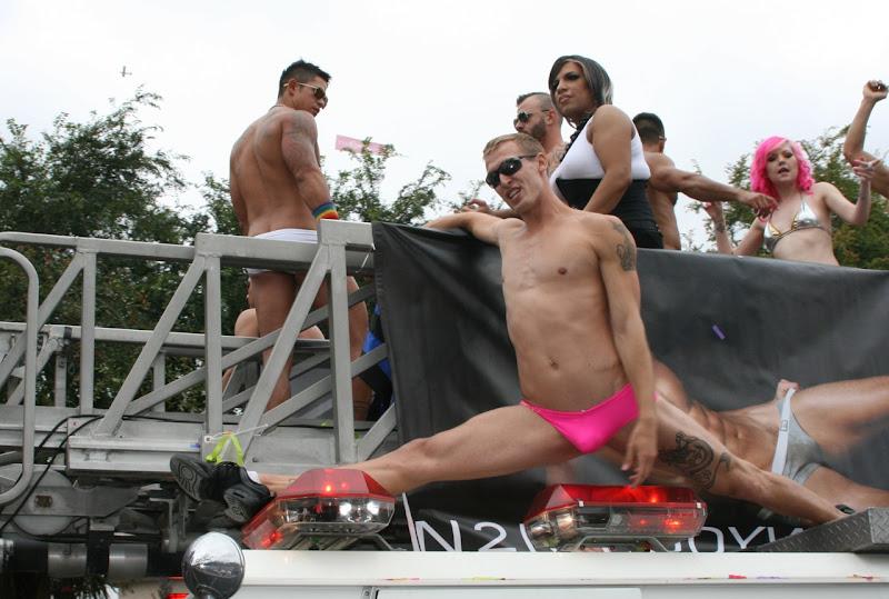 Micky's go-go boy LA Pride Parade