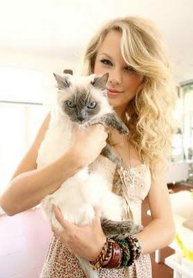 Foto Taylor Swift dan kucingnya
