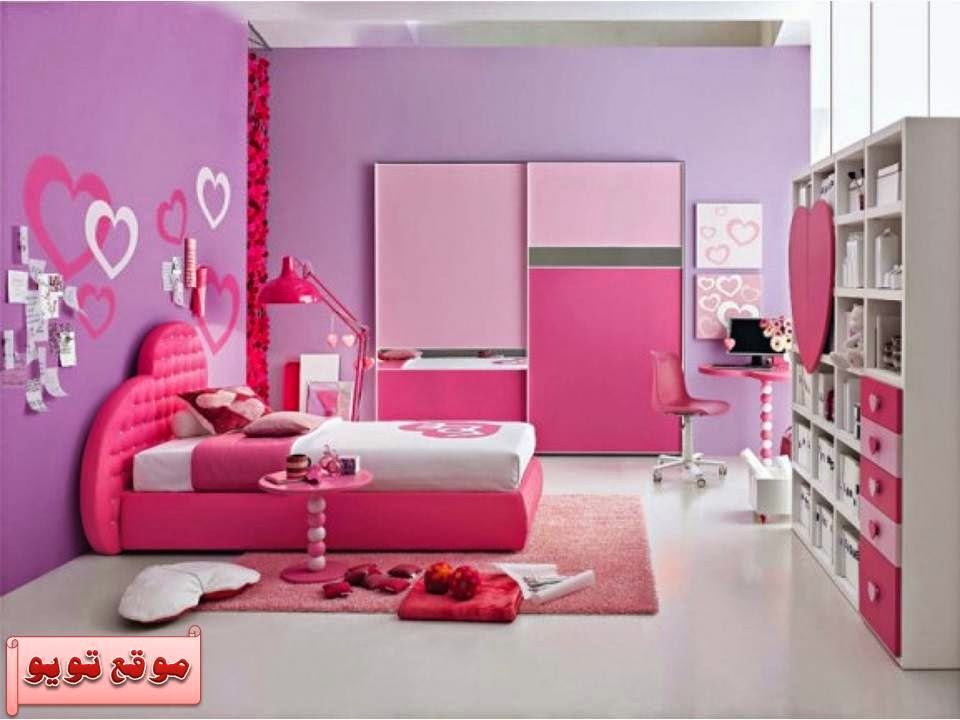 ديكورات غرف نوم بنات وردية Decorated pink bedrooms Girls