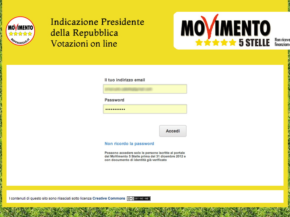 Commentando le stelle il movimento 5 stelle sceglie for Presidente movimento 5 stelle
