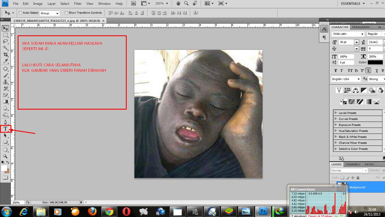 Cara Memberi Teks Pada Gambar di photoshop Cs apa saja bisa   Pusat ...