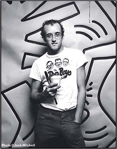 Keith Haring by Jack Mitchell