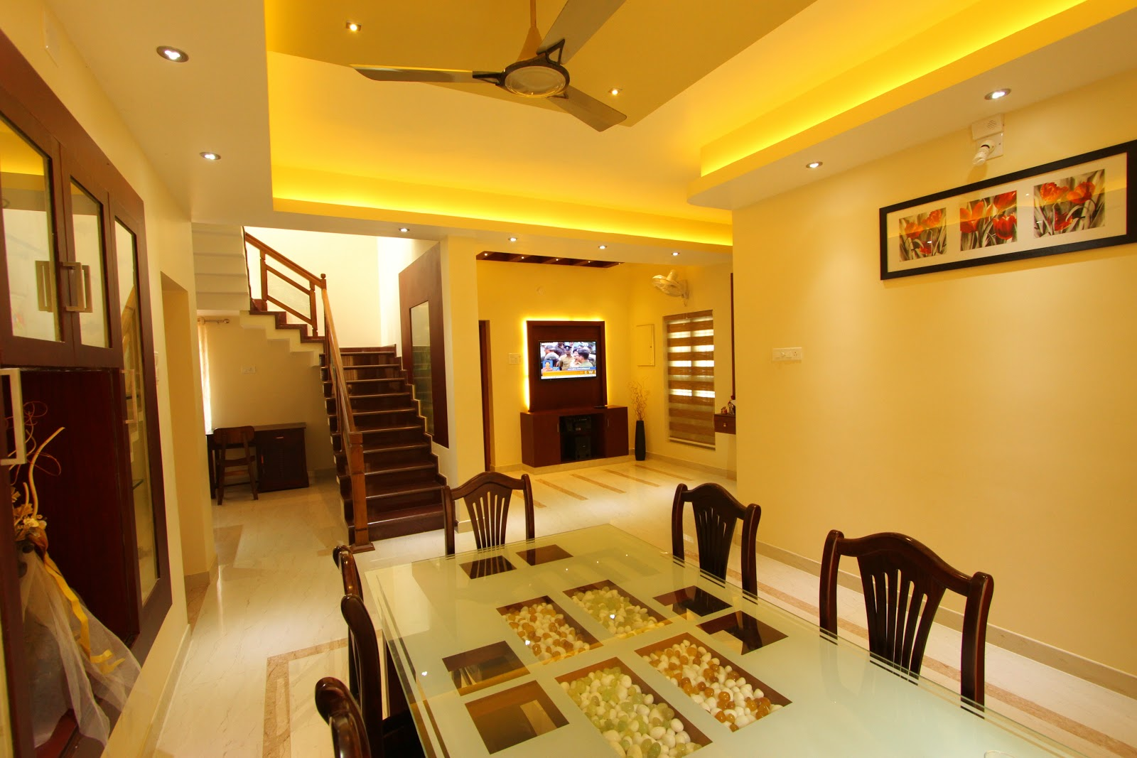Shilpakala interiors award winning home interior design for Home dining hall design