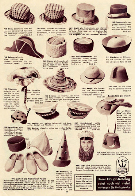 Page 7 of Karneval  katalog from 1955 - Einzinger & Co. Munchen - hats