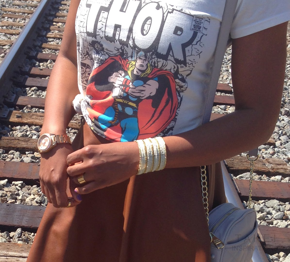 thor t shirt and skater skirt