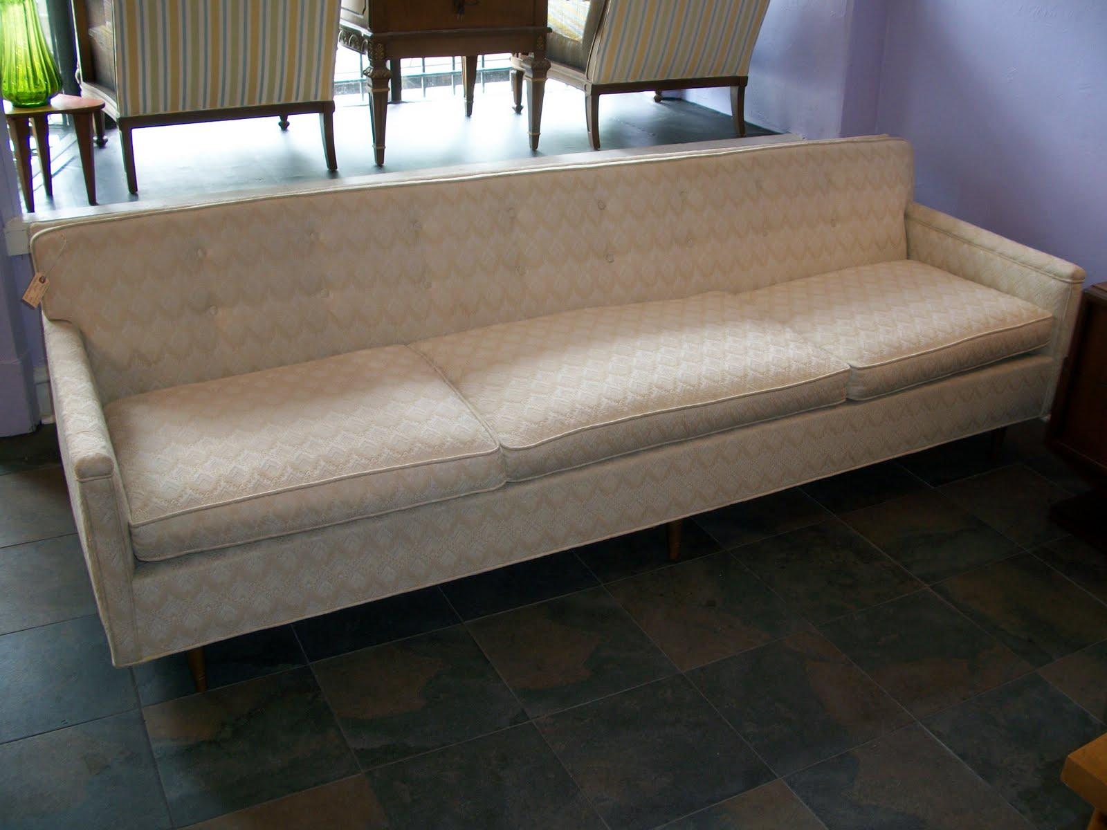 An Orange Moon Mid Century Modern Vintage Sofa