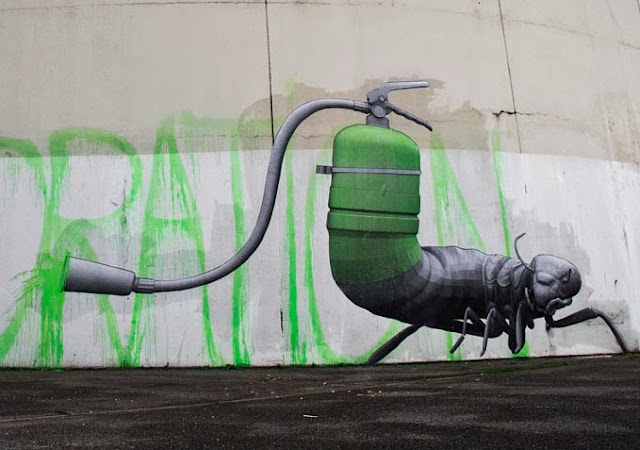 """""""Decoration"""" Newest Street piece By French artist Ludo On The Streets Of Paris, France. 2"""