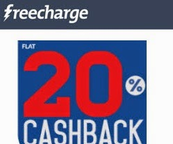 Mobile Recharge & Bill Payment 20% Cashback for Freecharge App users