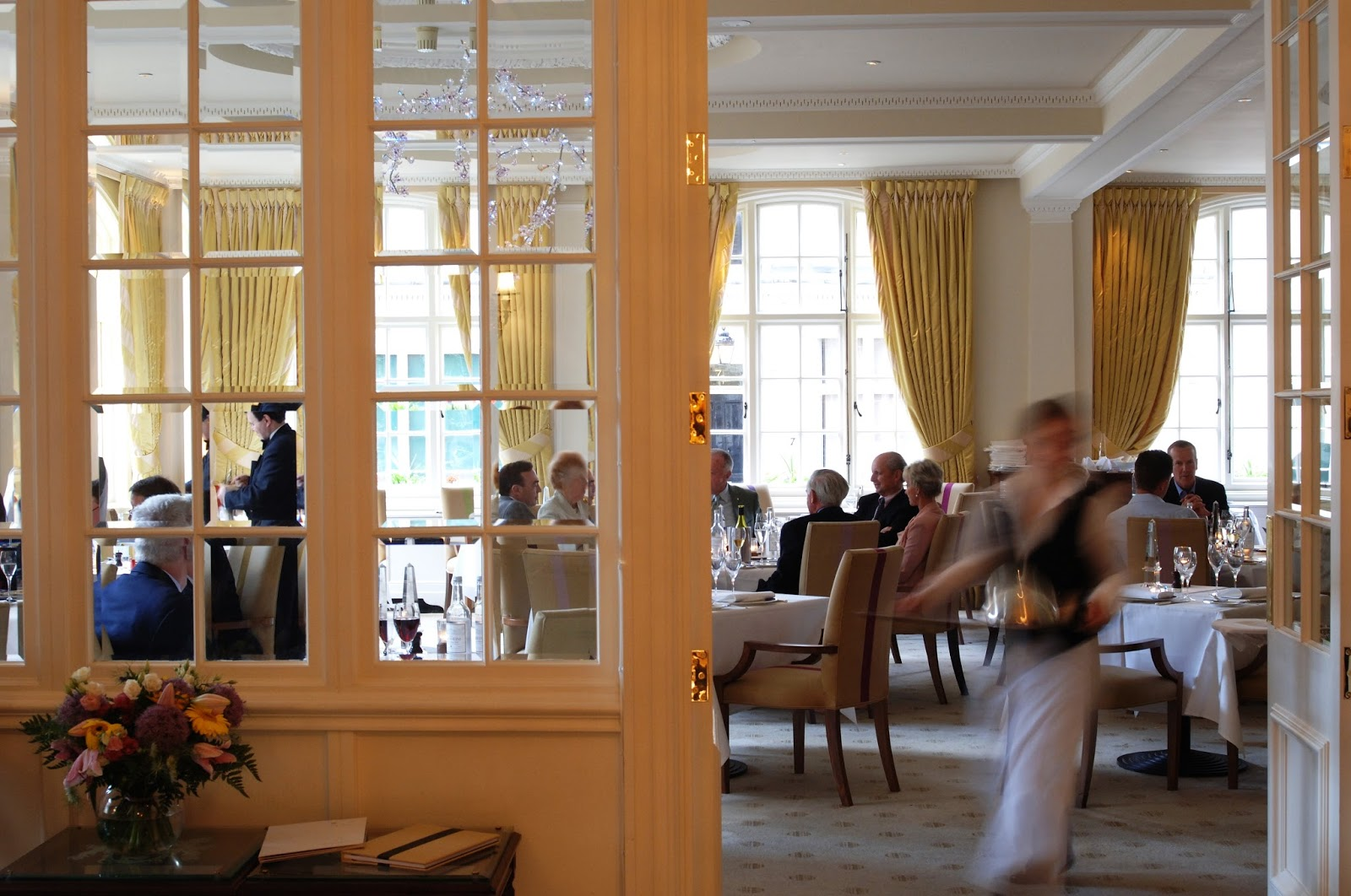 Travel the goring hotel london by appointment to her for Q dining room london