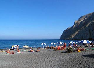 Santorini beach Kamari