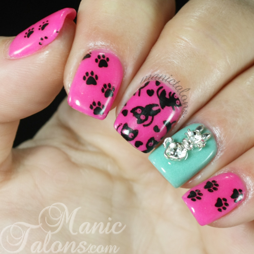 Precious Kitties with Messy Mansion MM50 and RevelNail Acrylic Dip System