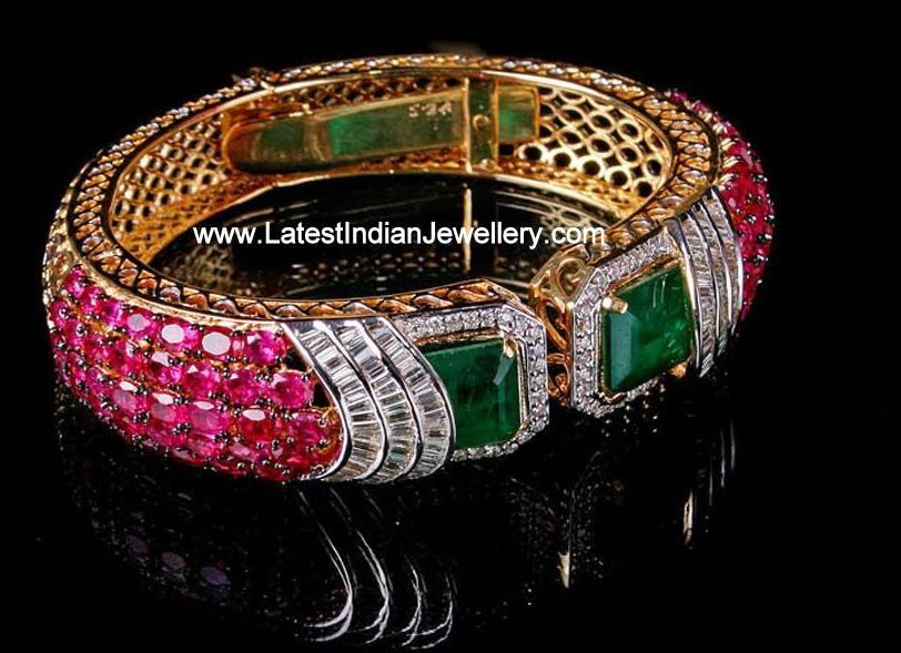 Ruby Diamond Statement Bracelet