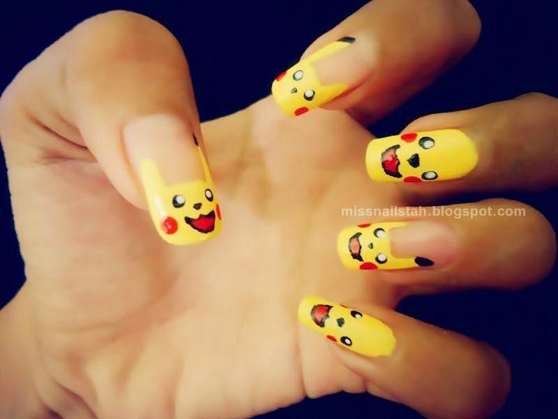 Ccs Nails Pikachu Nail Art