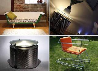 como fazer móveis e objetos reclicando carrinho de supermercado banheira