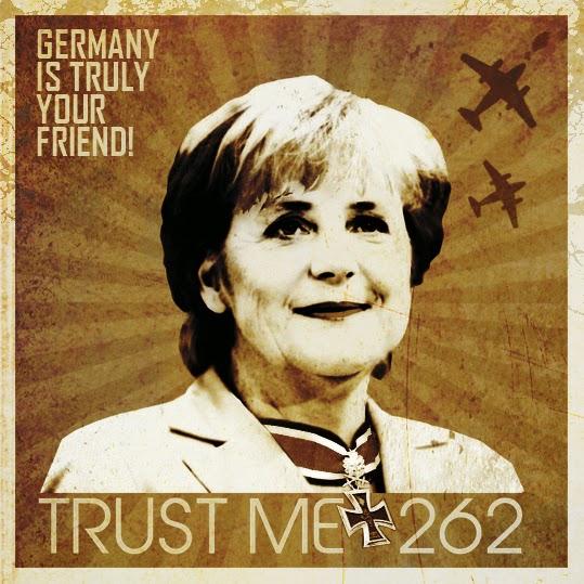 Angela Merkel poster propaganda