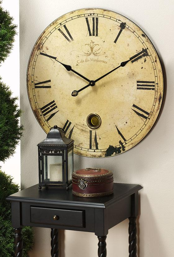 Bedroom Wall Clock Design : Roses and rust about time