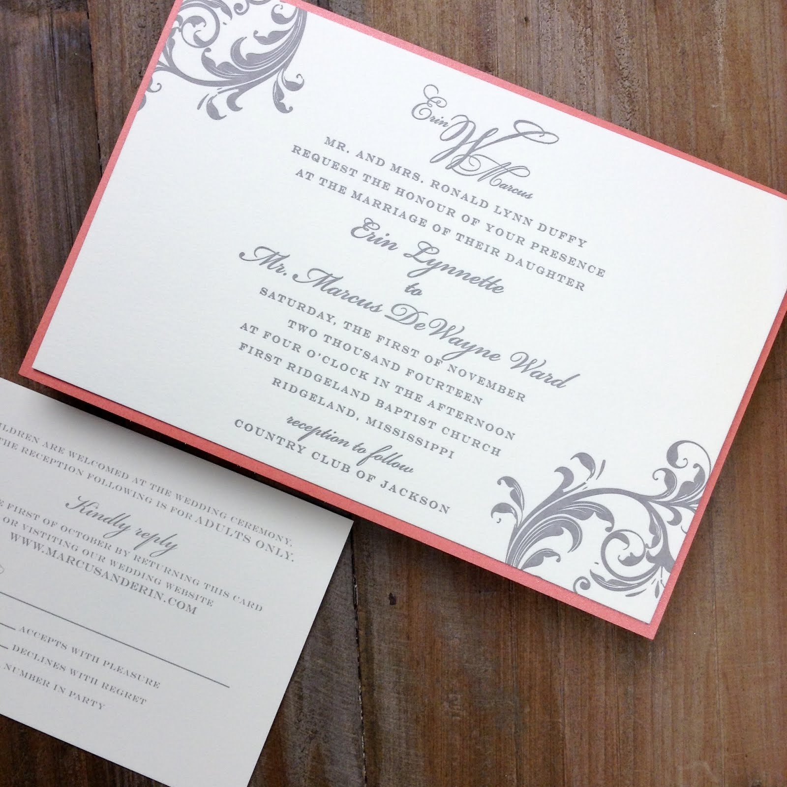 Wedding Invitation Sample Pinterest