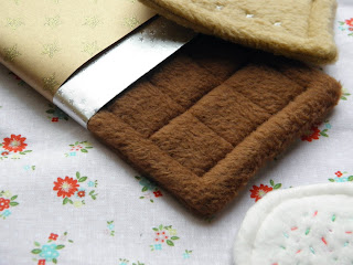 Sewing tutorial for fleece cookie, chocolate and gingerbread candy.