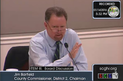 Brevard County Commissioner Jim Barfield