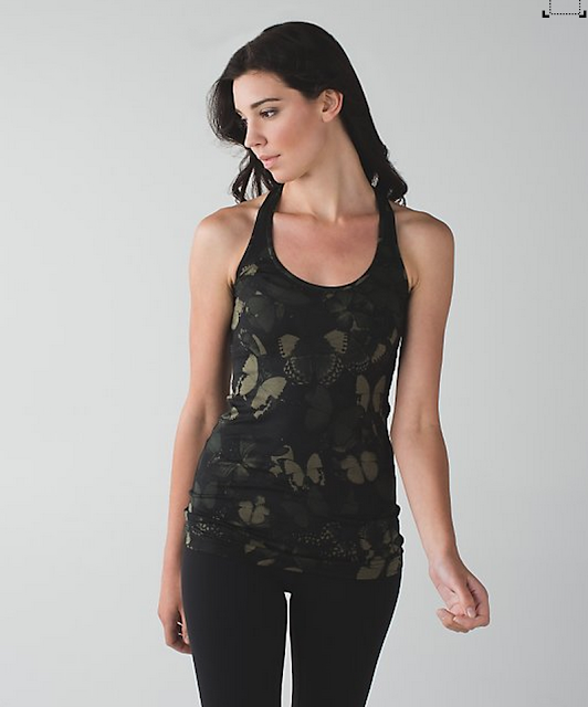 Biggie So Fly Butterfly Fatigue Green Cool Racerback
