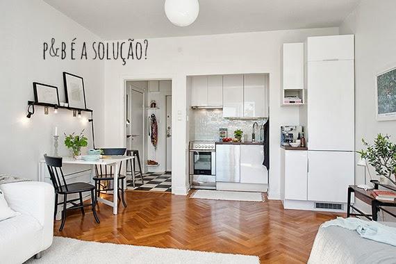Mini apartamento solu es em preto branco e inox for Einzimmerwohnung design