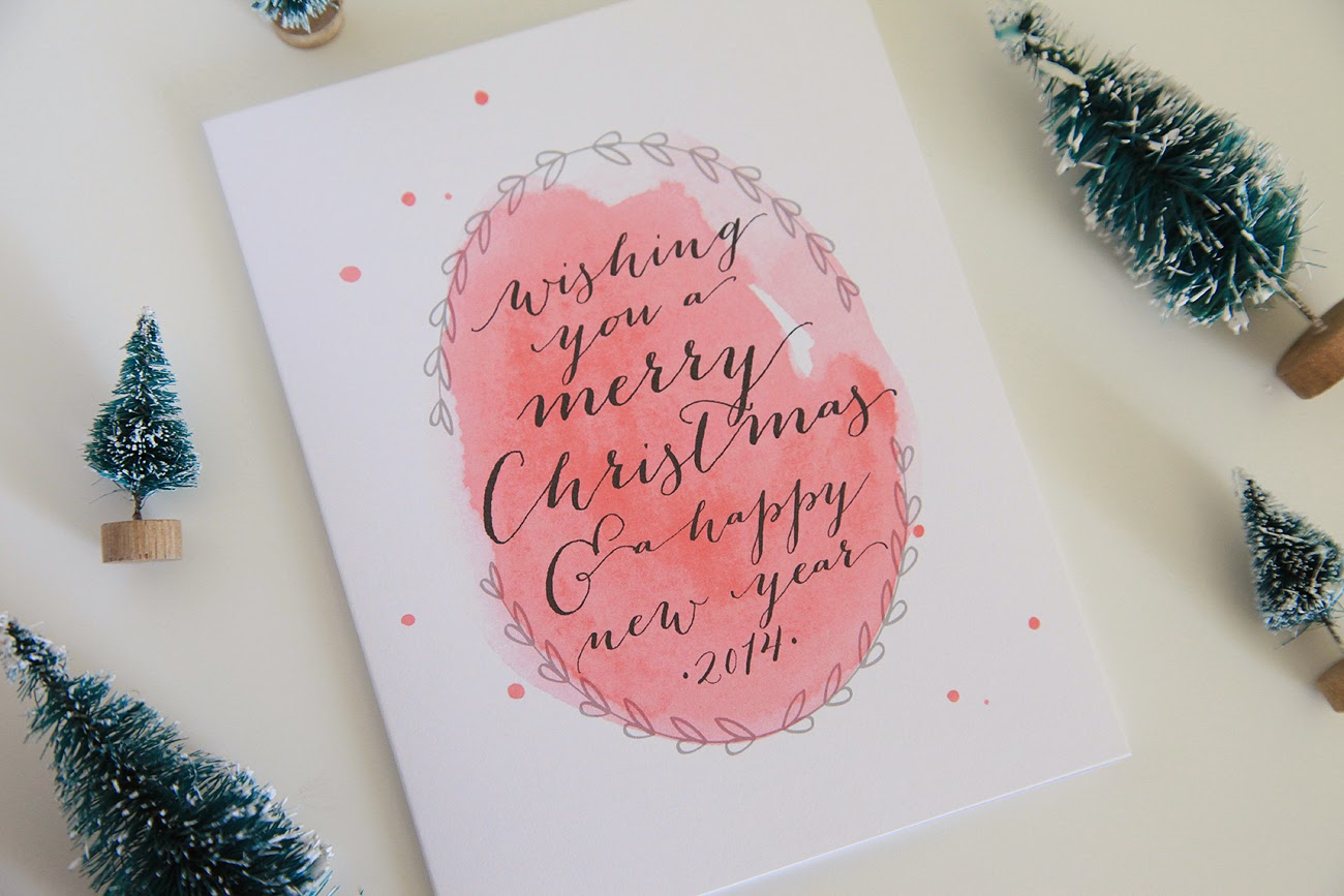 Unify Handmade: Watercolor Christmas Cards---My Etsy Shop