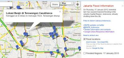Peta Banjir Jakarta dari Google
