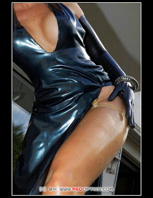 Sexy Transparent Latex Stockings Stella Van Gent