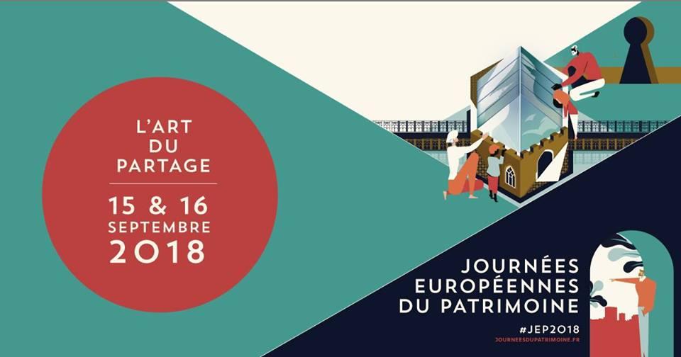 Les Journées Européens du Patrimoine 2018 les 15 et 16 septembre