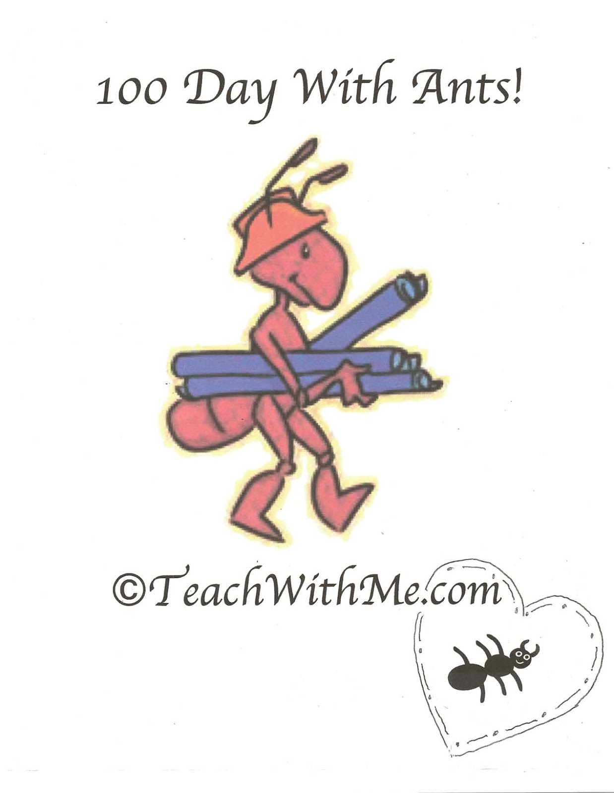 100 Day With Ants Classroom Freebies