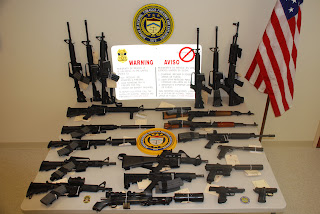 Guns seized during an ATF raid