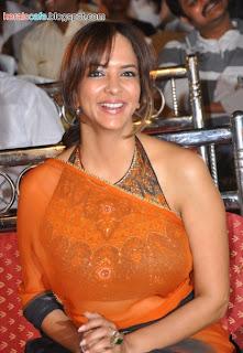 Manchu Lakshmi Hot In Saree Photo