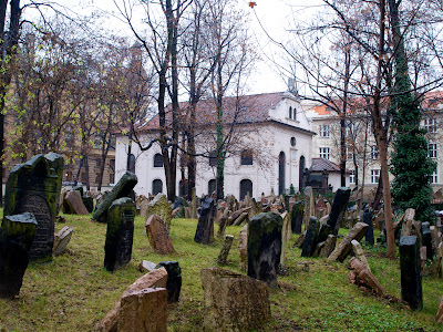 La Sinagoga Pinkas en el cementerio judio de Praga