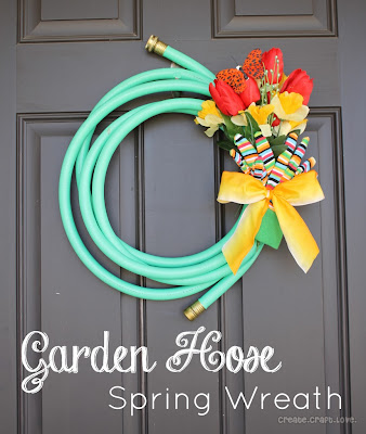Garden Hose Spring Wreath by Create Craft Love