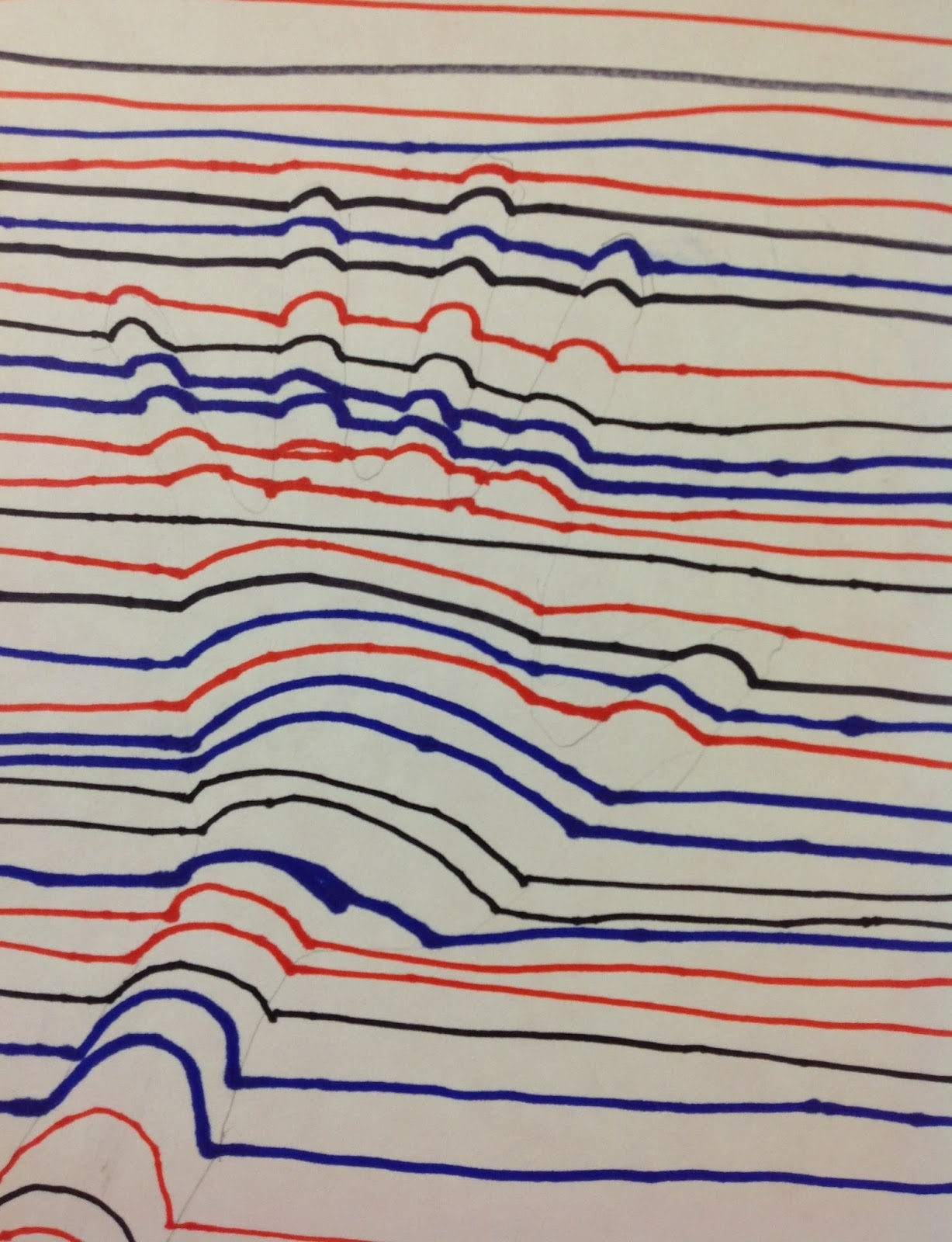 Op art uses color to create - To Create These Op Art Hands Students Utilized The Element Line Beginning At The Edge Of Their Paper With A Straight Line And Then Bumping Up When The