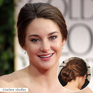 shailene+woodley+golden+globes+2012 Easy Tricks To Create Golden Globes Hairstyles!
