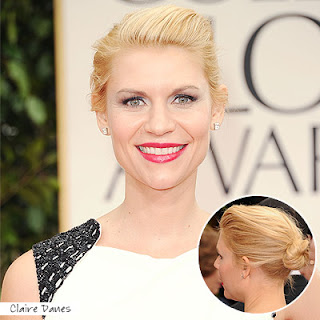 claire+danes+golden+globes+2012 Easy Tricks To Create Golden Globes Hairstyles!
