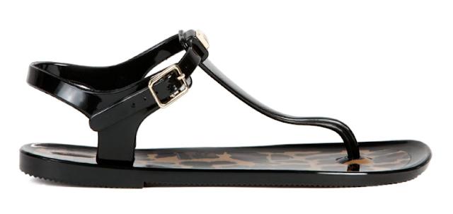 Rebajas SS 2015 complementos sandalias planas negras playa