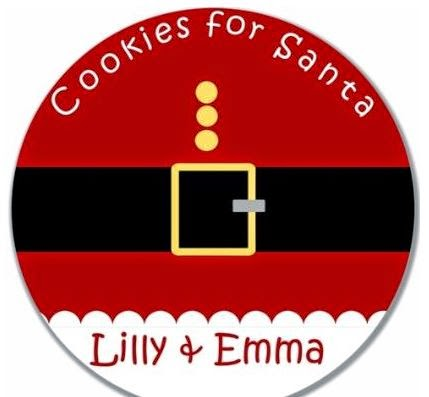 custom child's personalized cookie for Santa platter