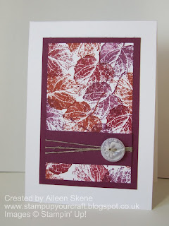 An autumnal panel of Stampin Up's French Foliage