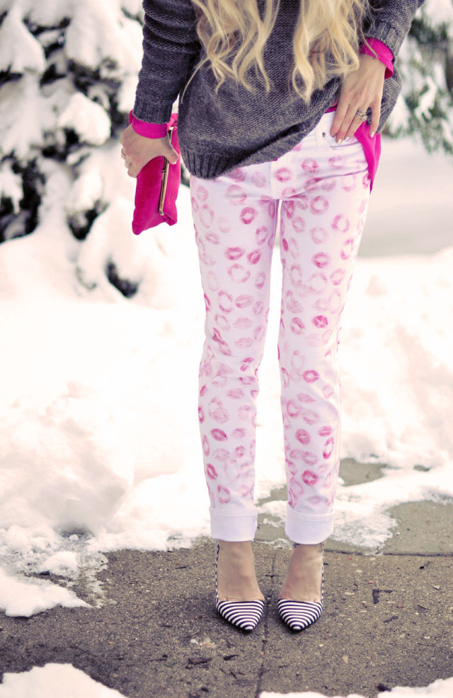 DIY Kiss Print Pants, Erin Fetherston