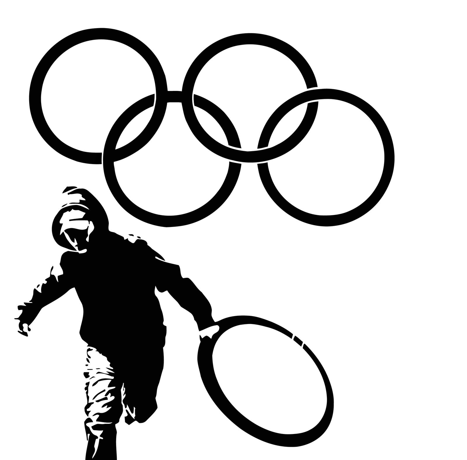 Olympic Games Thief Stencil - Free Graffiti Supplies
