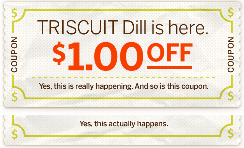 Print the latest Triscuit Coupons available!. Are you looking for a healthy snack in the afternoon or a late night snack? Check out Triscuit crackers! Triscuits are a great product to snack on when you don't want to reach for the potato chips!