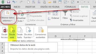 Importar datos desde una Web.