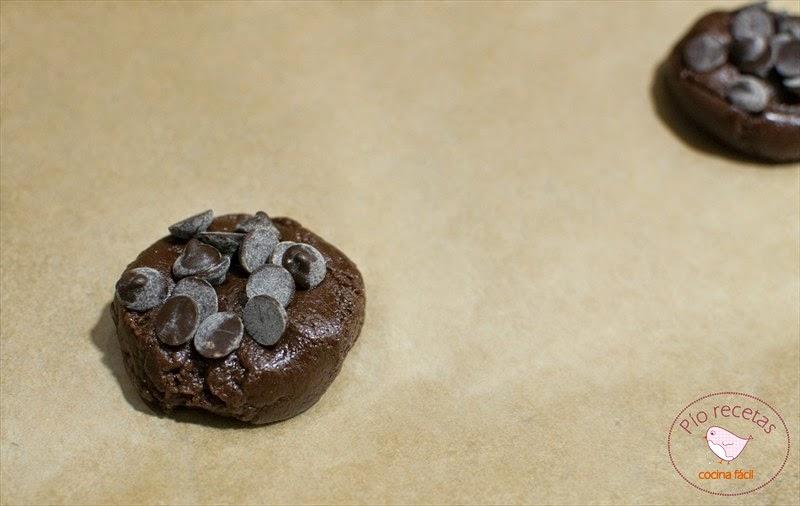 bola de masa con pepitas de chocolate