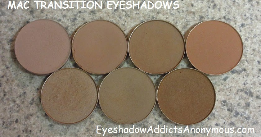 Eyeshadow Addicts Anonymous: A GUIDE TO MAC TRANSITION EYESHADOWS