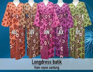 Long dress batik pekalongan murah dan berkualitas