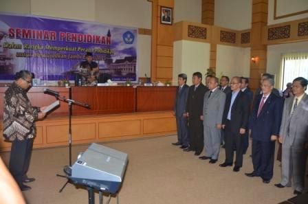 Pelantikan ISPI Jambi dan Seminar Nasional Pendidikan