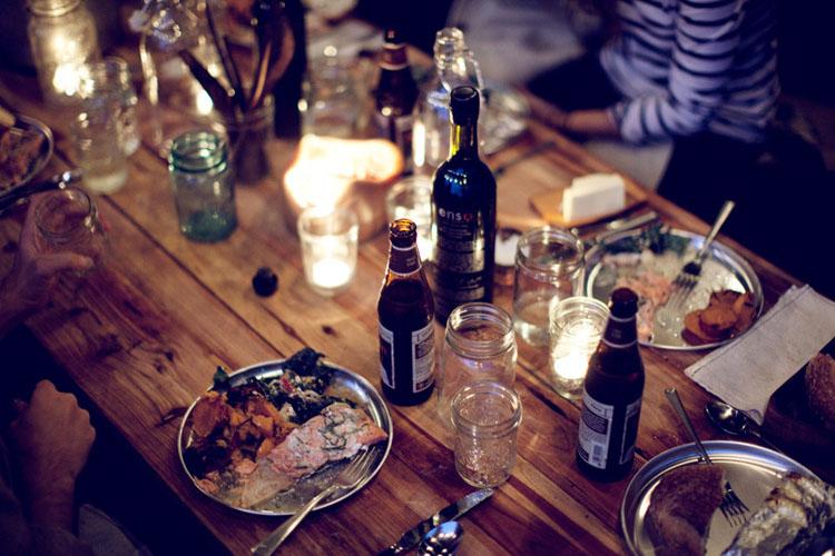 dia en el campo con los amigos-cena campestre